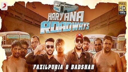 Haryana Roadways Lyrics Badshah x Fazilpuria