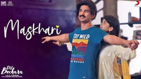 Maskhari Lyrics Dil Bechara | Sunidhi Chauhan