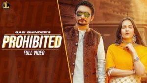 Prohibited Lyrics Sabi Bhinder x Gurlez Akhtar