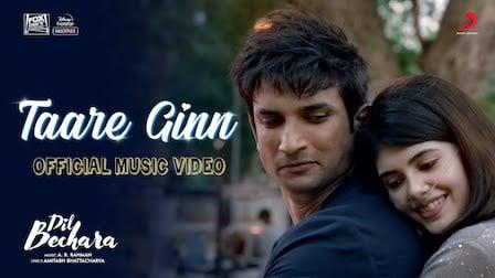 Taare Ginn Lyrics Dil Bechara | Mohit Chauhan