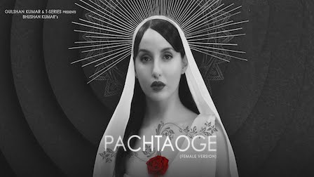 Pachtaoge Lyrics Asees Kaur | Nora Fatehi