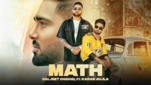 Math Lyrics Daljeet Chahal | Karan Aujla