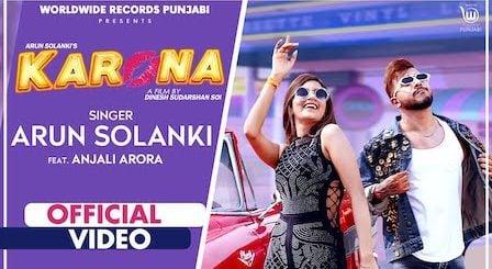 Karona Lyrics Arun Solanki