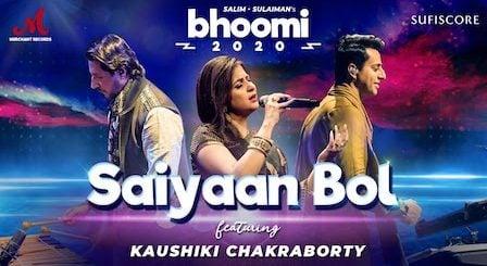 Saiyaan Bol Lyrics Kaushiki Chakraborty