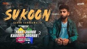 Sukoon Lyrics YJKD | Karan Sandhawalia