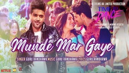 Munde Mar Gaye Lyrics Time To Dance | Guru Randhawa