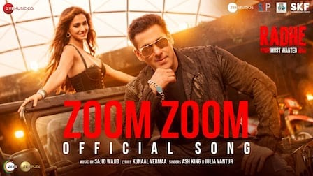 Zoom Zoom Lyrics Radhe | Ash King x Iulia Vantur