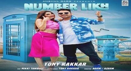 Number Likh Lyrics Tony Kakkar
