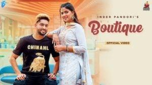 Boutique Lyrics Inder Pandori