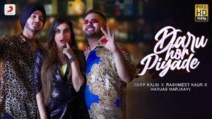 Daru Hor Piyade Lyrics Deep Kalsi x Rashmeet Kaur x Harjas