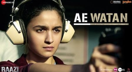 Ae Watan Lyrics Raazi | Sunidhi Chauhan (Female)