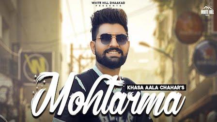 Mohtarma Lyrics Khasa Aala Chahar