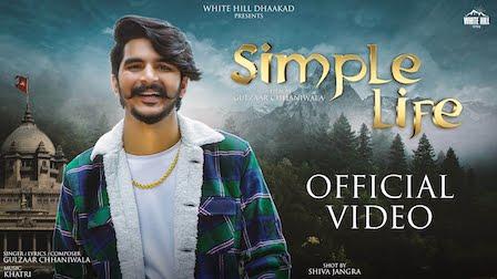 Simple Life Lyrics Gulzaar Chhaniwala