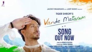 Vande Mataram Lyrics Tiger Shroff